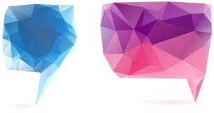 Abstract geometrical speech bubble Stock Photos