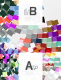 Abstract geometrical texture with infographic options. Vector template background for print workflow layout, diagram, number options or web design banner Royalty Free Stock Photography