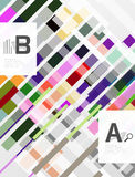 Abstract geometrical texture with infographic options. Vector template background for print workflow layout, diagram, number options or web design banner Royalty Free Stock Photo