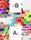 Abstract geometrical texture with infographic options. Vector template background for print workflow layout, diagram, number options or web design banner Royalty Free Stock Photos