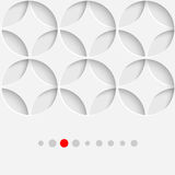 Abstract Geometrisch Adreskaartje Mooi Cirkelornament Stock Foto's