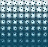 Abstract geometrisch blauw gradiënt vierkant halftone patroon Stock Afbeeldingen