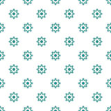 Abstract geometrisch bloem naadloos patroon Royalty-vrije Stock Afbeeldingen