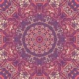 Abstract geometrisch bloemen naadloos patroon Royalty-vrije Stock Afbeeldingen