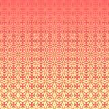 Abstract geometrisch bloemenoverzichtspatroon met halftone effect royalty-vrije stock afbeeldingen