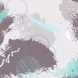 Abstract geometrisch borstelpatroon met cirkels In hand getrokken texturen Modern abstract ontwerp voor document, dekking Stock Illustratie