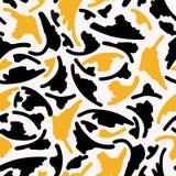 Abstract Geometrisch Camouflage Naadloos Vectorpatroon royalty-vrije illustratie