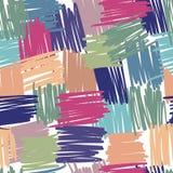 Abstract geometrisch chaotisch lijnen naadloos patroon Streepachtergronden uit de vrije hand stock illustratie
