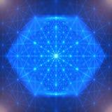 Abstract geometrisch cijfer met veelvoudige verbindingen vector illustratie