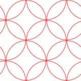 Abstract geometrisch cirkel naadloos patroon Grafische manier Japans ontwerp moderne modieuze textuur Vector illustratie gebruikt Royalty-vrije Stock Fotografie