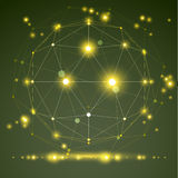 Abstract geometrisch 3D netwerkvoorwerp, moderne digitaal Royalty-vrije Stock Afbeeldingen