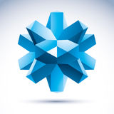 Abstract geometrisch 3d voorwerp Royalty-vrije Stock Fotografie