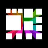 Abstract geometrisch 3d voorwerp Royalty-vrije Stock Afbeelding