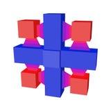 Abstract geometrisch 3d voorwerp Royalty-vrije Stock Foto