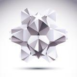 Abstract geometrisch 3D voorwerp, moderne digitale technologie en scie Royalty-vrije Stock Foto