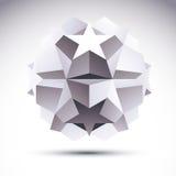 Abstract geometrisch 3D voorwerp, moderne technologie Royalty-vrije Stock Afbeeldingen