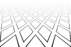 Abstract geometrisch diamantenpatroon Verminderend Perspectief Witte geweven achtergrond stock illustratie