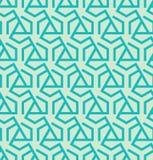 Abstract geometrisch die patroon van driehoeken en zeshoeken wordt gemaakt - vectoreps8 Royalty-vrije Stock Afbeeldingen
