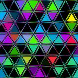 Abstract geometrisch driehoeken ononderbroken patroon Royalty-vrije Stock Fotografie