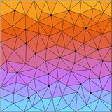 Abstract geometrisch driehoeks veelhoekig patroon Stock Foto