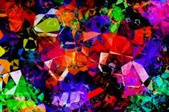 Abstract geometrisch gekleurd cijfer Royalty-vrije Stock Afbeeldingen