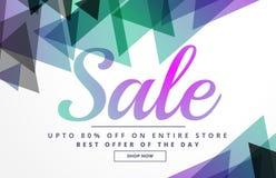 Abstract geometrisch het ontwerpmalplaatje van de verkoopbanner voor bevordering Stock Foto