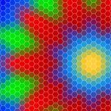 Abstract geometrisch hexagon net, vorm van een bloem royalty-vrije illustratie