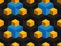 Abstract geometrisch isometrisch vector naadloos patroon Stock Foto