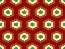 Abstract geometrisch isometrisch vector naadloos patroon Royalty-vrije Stock Afbeeldingen