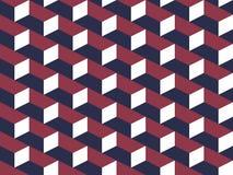 Abstract geometrisch isometrisch vector naadloos patroon Royalty-vrije Stock Afbeelding