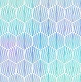 Abstract geometrisch naadloos hexagon patroon Royalty-vrije Stock Afbeelding
