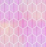 Abstract geometrisch naadloos hexagon patroon Royalty-vrije Stock Afbeeldingen