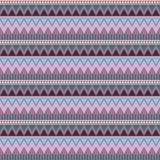 Abstract geometrisch naadloos patroon Azteekse stijl met driehoek en lijn het stammenpatroon van Navajo beige blauwe bruine lilac Royalty-vrije Stock Afbeeldingen