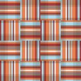 Abstract geometrisch naadloos patroon De vierkante textuur van de streepstof Stock Foto