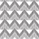 Abstract geometrisch naadloos patroon De zigzaglijn van de stoffenkrabbel Stock Fotografie