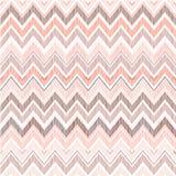 Abstract geometrisch naadloos patroon De zigzaglijn van de stoffenkrabbel Stock Foto