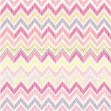 Abstract geometrisch naadloos patroon De zigzaglijn van de stoffenkrabbel Stock Afbeeldingen