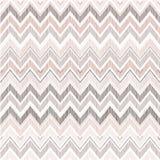 Abstract geometrisch naadloos patroon De zigzaglijn van de stoffenkrabbel Stock Afbeelding