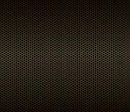 Abstract geometrisch naadloos patroon Gouden hexagon net op zwarte achtergrond De eindeloze textuur van het druksilhouet - Stock Fotografie