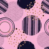 Abstract geometrisch naadloos patroon met cirkels Ontwerpdocumenten, Royalty-vrije Stock Fotografie