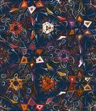 Abstract geometrisch naadloos patroon met dierlijke druk In hand getrokken texturen Modern abstract ontwerp voor affiche Stock Fotografie