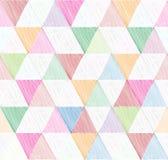 Abstract geometrisch naadloos patroon met driehoek Sierwit Stock Foto's