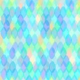 Abstract geometrisch naadloos patroon met ovale ellips en squama decoratieve eigentijdse elementen roze purpere blauwe aqua lilac Stock Foto's