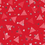Abstract geometrisch naadloos patroon met punten en driehoeken Sierwit Stock Foto's