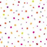 Abstract geometrisch naadloos patroon met punten Sierwit Royalty-vrije Stock Afbeeldingen