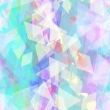 Abstract geometrisch naadloos patroon met ruit en briljante decoratieve eigentijdse elementen purpere lilac blauwe geometrische a Stock Fotografie