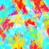 Abstract geometrisch naadloos patroon met ruit en briljante decoratieve geometrische abstracte eigentijdse elementen Gele purple Royalty-vrije Stock Afbeeldingen