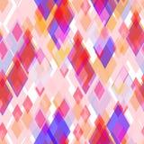 Abstract geometrisch naadloos patroon met ruit en briljante decoratieve geometrische en abstracte eigentijdse elementen lilac roz Royalty-vrije Stock Fotografie
