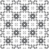 Abstract geometrisch naadloos patroon met vogels Stock Foto