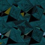 Abstract geometrisch naadloos patroon op een donkere achtergrond Stock Afbeeldingen